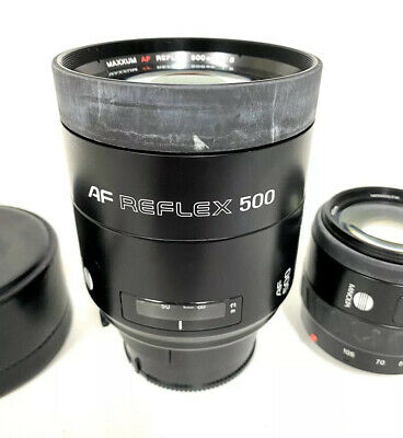 Minolta AF Reflex 500mm F/8 Lens for Sony A-Mount Made In Japan + Maxxum Lens