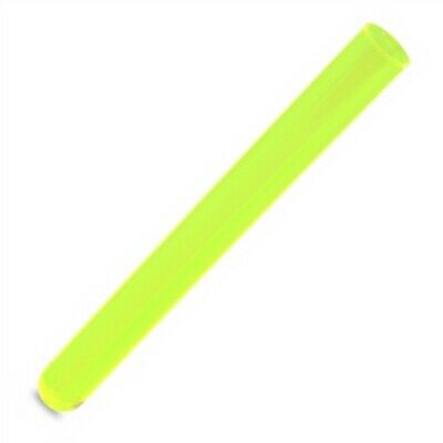 100pcs 16x150mm Plastic Test Tubes, Round Bottom, 20ml Vol, Neon Green Color