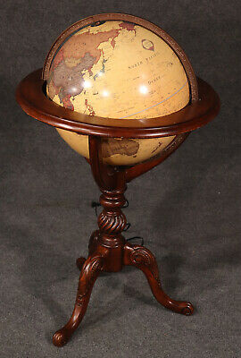 Beautiful Vintage Lighted French Style World Globe Classica