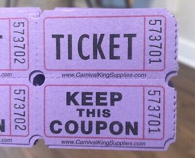 100 Count Raffle Tickets