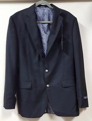 Stafford Blazer Size 42L Charcoal Gray Executive Classic Fit 100% Wool 2 Button