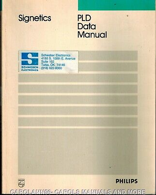 SIGNETICS Data Book 1989 PLD Data Manual