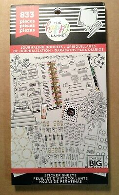 """NEW! me & my big ideas the happy PLANNER """"JOURNALING DOODLES"""" Sticker Book"""