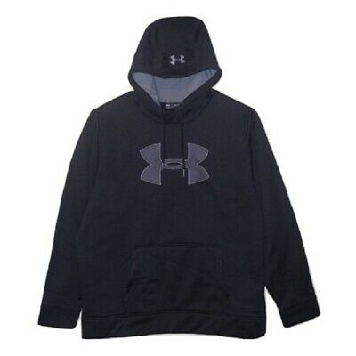NWT Under Armour Mens Storm Caliber Big Logo Hoodie 1299749 Black L Large $55