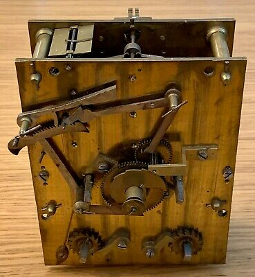 Antique Twin Fusee Movement Chain Clock Mechanism Early Victorian Good Condition