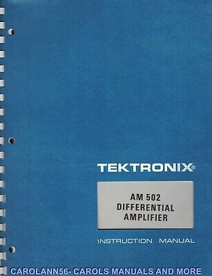 TEKTRONIX Manual AM 502 DIFFERENTIALAMPLIFIER