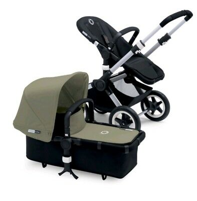 Bugaboo buffalo khaki fabric set hood and apron Brand new