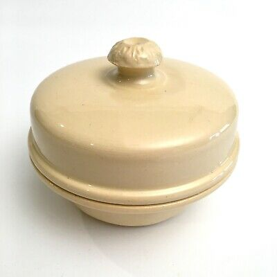 Antique Terrine Brevetee Le Cachet Pot Dish Pottery France