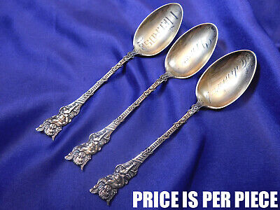 Watson Unknown Cherub Pattern Sterling Silver Coffee Spoon - Excellent Condition