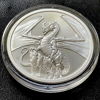 THE WELSH DRAGON 1 oz Silver Round CoinGame Of Thrones Dragon? #2 of 6