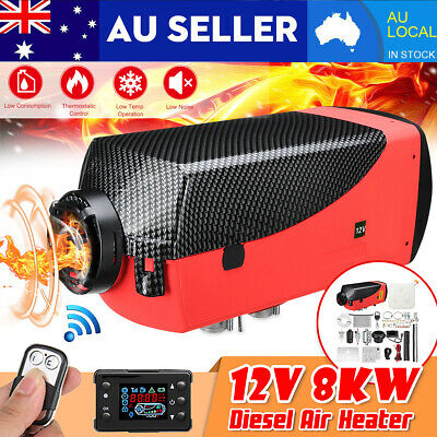 8KW 12V Diesel Air Heater LCD Thermostat Remote 8000W For Trucks Boat Trailer AU