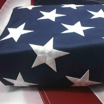 American Outdoor USA Flag 6x10 Ft UV Protected Embroidered Stars Sewn Stripes US