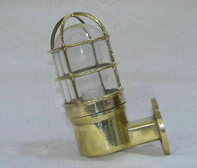Authentic Nautical Antique Old Ship Swan Brass Wall Marine Light Japan CC74