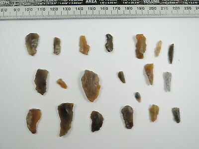 20 NEOLITHIC Flint MICROLITH and ARROWHEAD Essex England