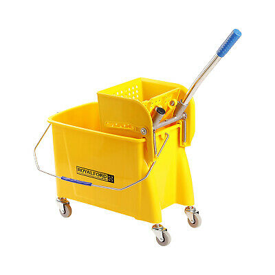 Royalford 24L Professional Heavy Duty Kentucky Mop Bucket With Wringer & Wheels