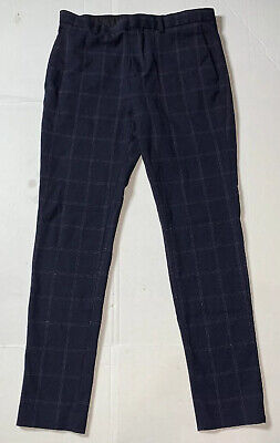 Preowned- H&M Super Skinny Stretch Fit Checkered Pants Mens (Size 32x29)