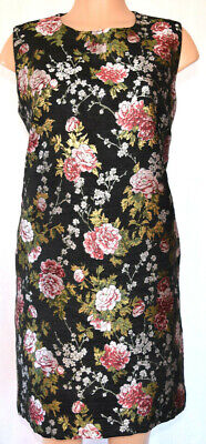 Dolce&Gabbana Embroidered Floral Gold Accents Floral Sleeveless Dress Size 48