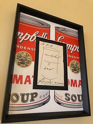 Andy Warhol HAND-SIGNED Drawing w/ COA