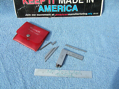 Lufkin 138Cx Die-Makers Square Vintage Usa Machinist 5 Pieces W/Starrett  Case