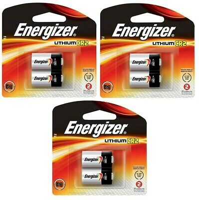 3 Pack- Energizer CR2 Lithium Battery EXP 2026  (6 batteries total)