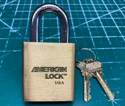American 3700 Schlage Primus Padlock w/ Security Pins - Locksmith Locksport Lock