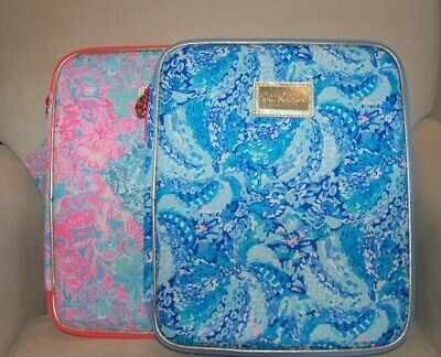 NWT New Lilly Pulitzer Zip Agenda Folio Turquoise Oasis(Blue)or Peri Viva (Pink)