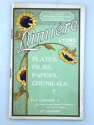 LUMIÈRE Lyons London PLATES FILMS PAPERS CHEMICALS - Photographic Photo camera