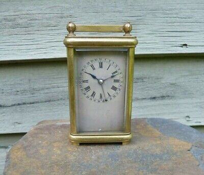 Antique John Moncas Fusee Movement Miniature Carriage  W/ Calendar Low SN