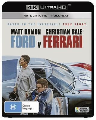 FORD vs FERRARI (2019): aka: Le Mans '66, Matt Damon - NEW Au RgB 4K + BLU-RAY