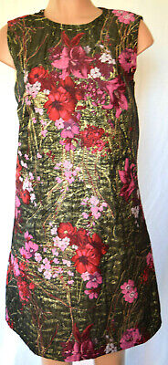 Dolce&Gabbana Embroidered Multi-Color Brocaded Gold/Metallic Dress  46