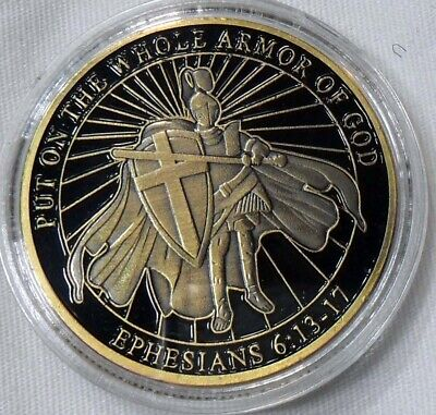 Put On The Whole Armor of God Christian Challenge Coin Ephesians 6-13-17