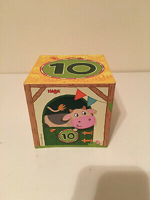 10 piece set HABA On the Farm Sturdy Cardboard Nesting & Stacking Cubes