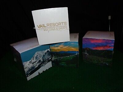 Vail Resorts Meetings & Events Special Post It Collectible Cube Lot! L@@K!
