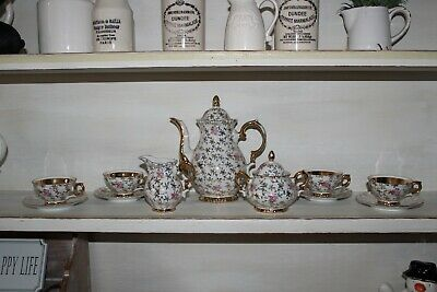 COUNTRY HOUSE SALE Ladies Ditsy Miniature Tea,Coffee Set,Vintage,Antique,Rococo