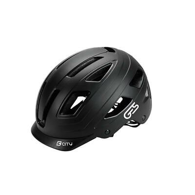 Casco Ges City Negro Mate Luz 6 Leds Talla M