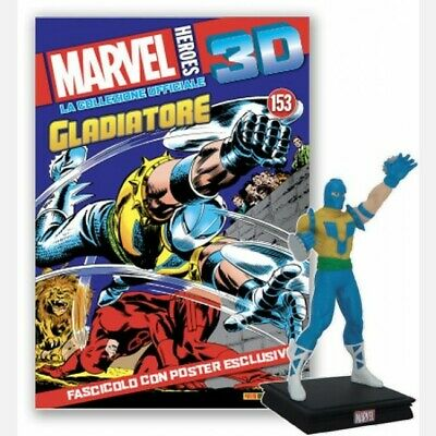 MARVEL HEROES 3D Uscita n° 153 Gladiator (Melv Collezione ufficiale ACTIONFIGURE