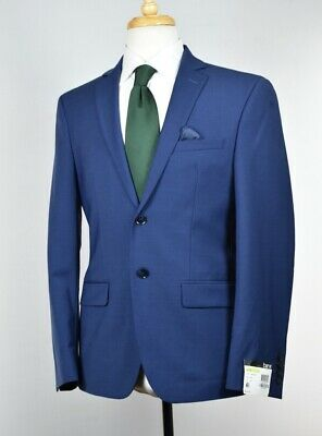 Bar Iii Men's Blue Slim Fit Wool Blend Stretch Suit 38 S $600 New Taur1Czz02