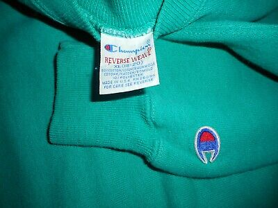 Vintage 80s  90s Teal Champion Reverse Weave Sweatshirt Youth XL