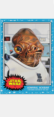 Topps Star Wars Living Set Card Admiral Ackbar #71 Star Wars Return Of The Jedi
