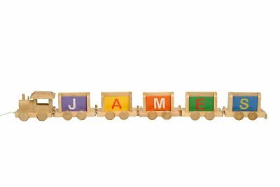 Vinsani Personalised Name Wooden Upper Case Alphabet Train Letters
