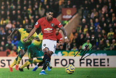 Marcus Rashford  - Man United  - signed autographed PHOTO 12X8 WITH COA