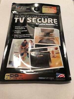 "VANTAGE POINT TV Secure Adhesive Mounting Kit TVs 24""-48"""