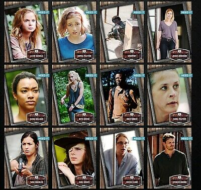 TWD WOOD & FIRE WAVE 1 WOOD BASE 24 CARD SET Topps WALKING DEAD DIGITAL TRADER