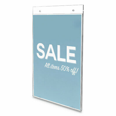 "deflecto Classic Image Wall Sign Holder, 8 1/2"" x 11"", Clear Frame, 12/Pack"