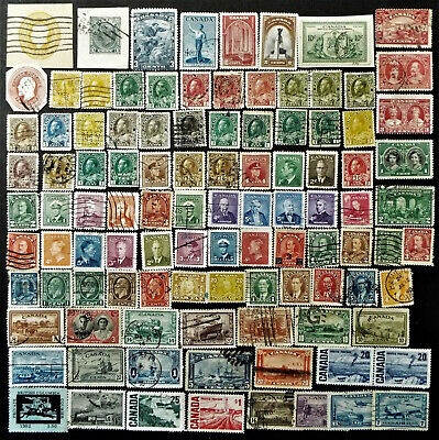 Collection Of Older Stamps From Canada