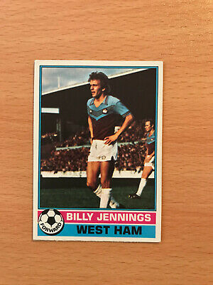 BILLY JENNINGS TOPPS-FOOTBALL -#385- WEST HAM ORANGE BACK 1978