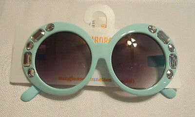 GYMBOREE BLUE GLITTER SUNGLASSES FOR GIRLS Ages 4 and Up NEW