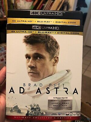 AD ASTRA 4K UKTRA - BLU RAY - Slip Cover. No DIGITAL CODE. Free Shipping