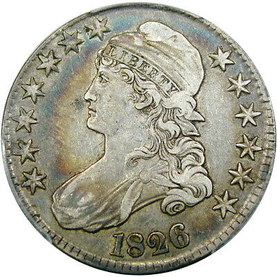 1826 50C Pcgs Vf35 Capped Bust Half Dollar ~ Beautiful Album Color!