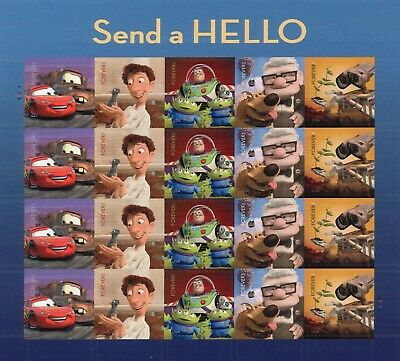 USPS Disney Send a Hello Forever Stamps New, Never Used Disney Pixar #4553